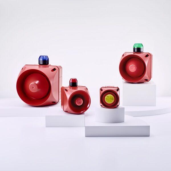 Multi-Tone Alarm Sounder A with Light Indicator